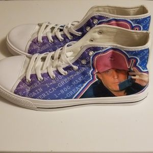 Shoes - NWOT MAGA Donald Trump 90s Flip Phone High Tops